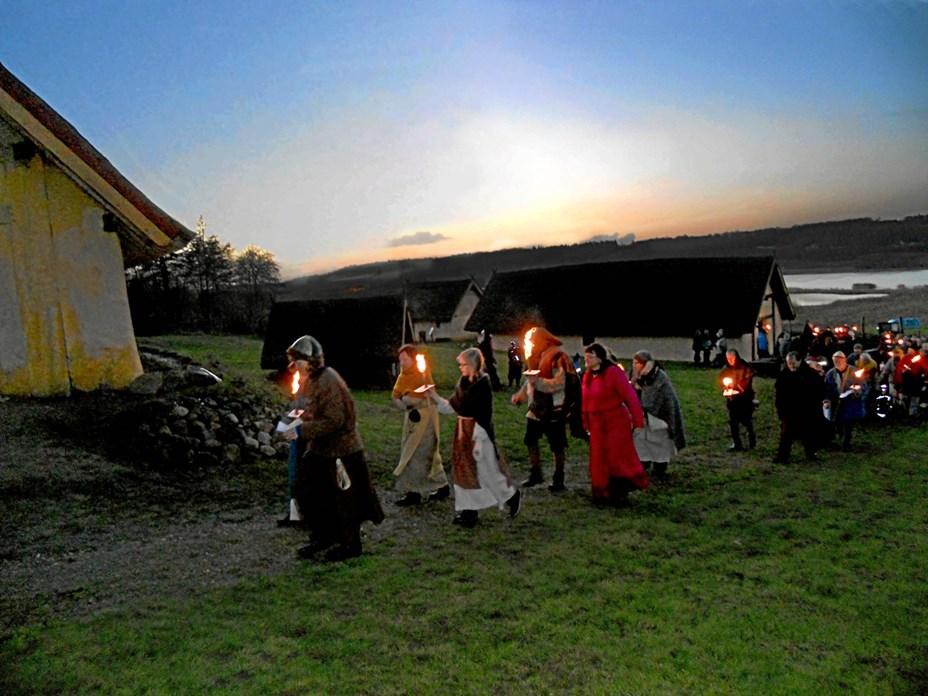 Fyrkat-vikinger fejrer vintersolhverv i weekenden