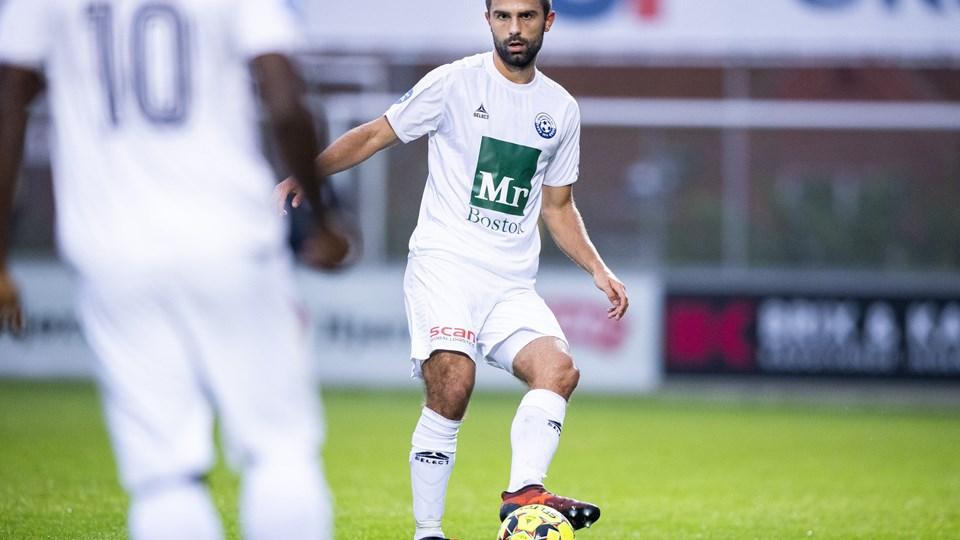 AaB-lejesvenden Jakob Blåbjerg fik debut for Vendsyssel FF - og han leverede en god præstation. Foto: Lars Pauli