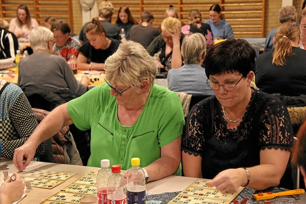 Det gjaldt om at være koncentreret når numrene blev råbt op. Foto: Hans B. Henriksen Hans B. Henriksen
