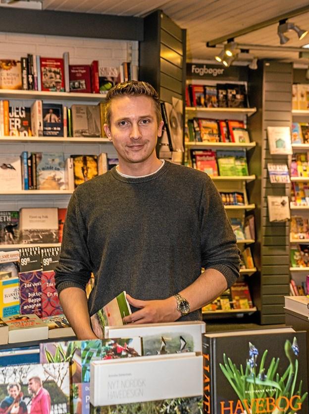 """Jesper Vad - 35 år og klar til at rulle ærmerne op. De første måneder vil han lige stikke en finger i jorden, inden han """"skaber sin egen butik"""" Foto: Mogens Lynge"""