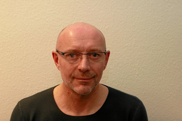 Økonomiansvarlig Jan Kolstrup, 3F Midtfjord - er med til at bemande fagforeningens stand på de kommende dages Kimbrerskue. Foto: Martin Glerup