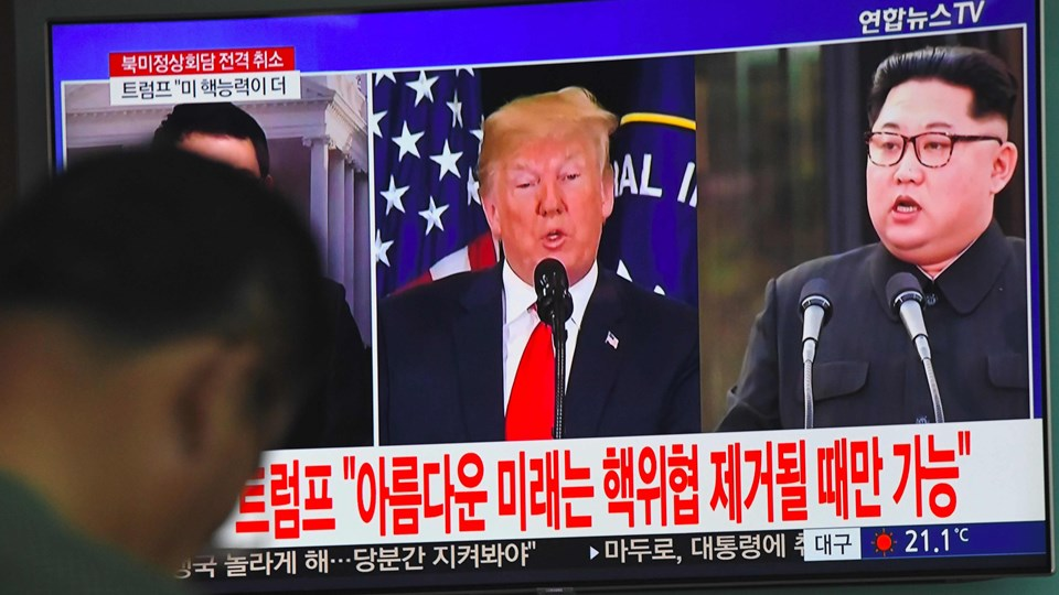I Nordkorea bliver aflysningen af historisk topmøde mellem præsident Donald Trump og Kim Jong-un mødt med stor ærgrelse. Foto: Jung Yeon-je/arkiv/Ritzau Scanpix