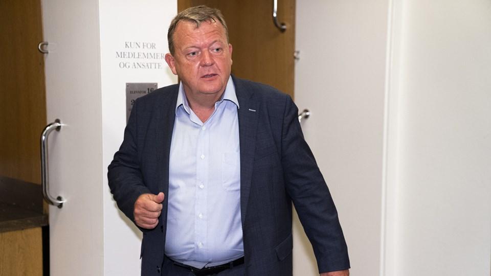Har han et nyt parti i maven? Lars Løkke Rasmussen i sidste uge, to dage før han gik af som formand for Venstre. Foto: Martin Sylvest/Ritzau Scanpix