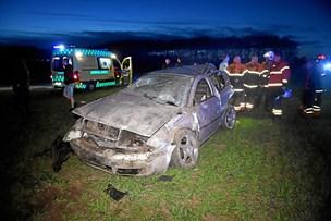 Bilist forulykket: Blev fundet på en mark