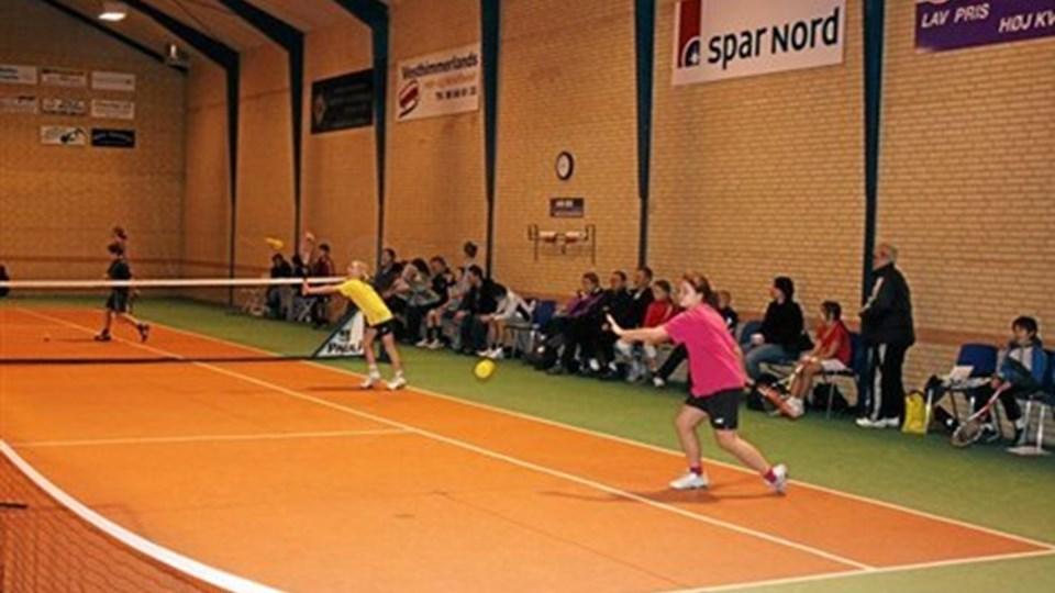 Tennisklubben i Aars indleder i den kommende uge den indendørs træning. Privatfoto