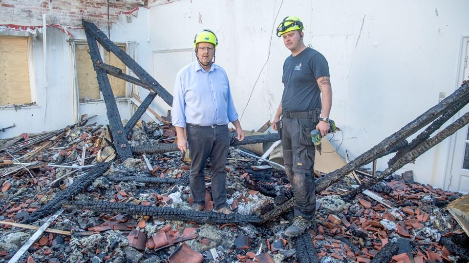 Medarbejdere fra PRO Skadeservice var på plads få timer efter branden brød ud.