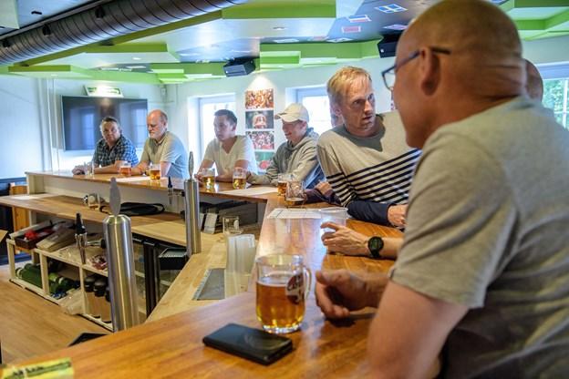 Det r den tidligere Alberts Pub, der er omdannet til VM-café.