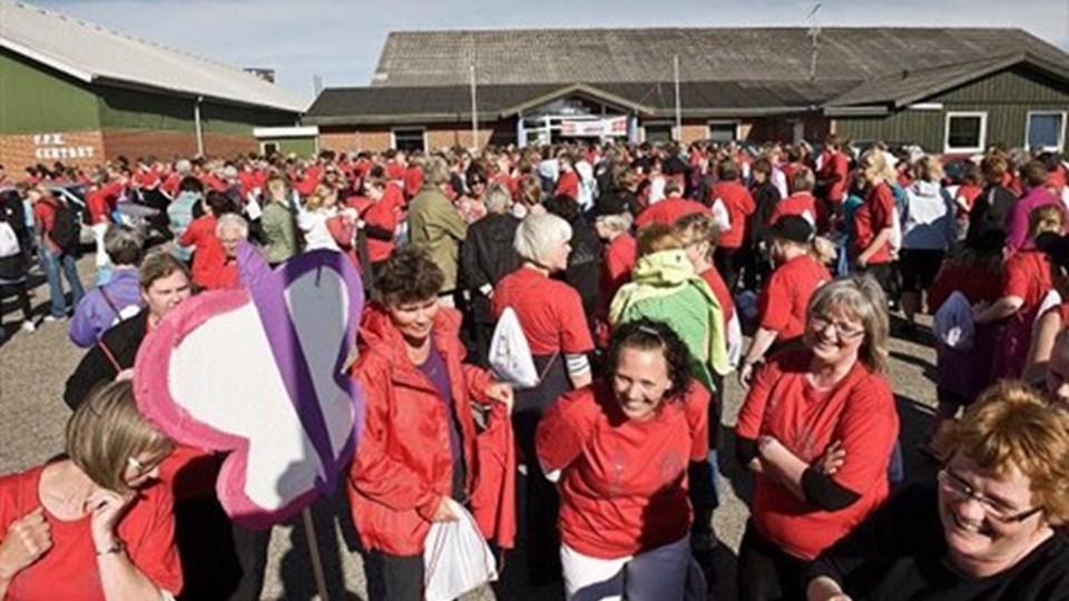 KOMMUNEN har tidligere støtte andre motionstiltag såsom Ladywalk, hvor op mod tusind kommunalt ansatte kvinder var med.