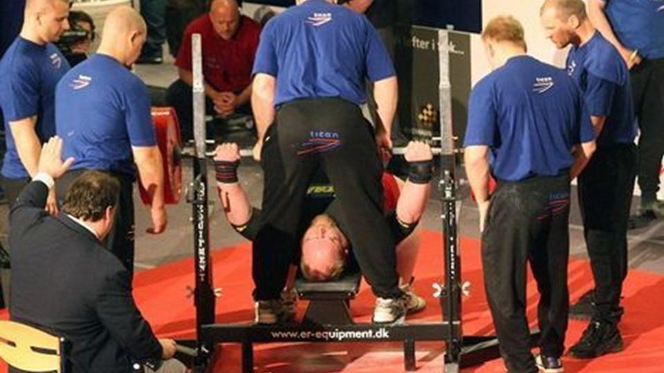 VM i bænkpres i Thy Hallen blev en stor triumf for arrangørerne fra Thisted Vægttrænings Forening. Arkivfoto