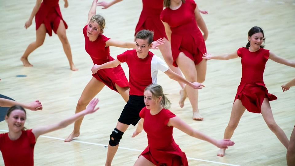 Opvisningen arrangeret af Gymnastik Fællesskab Mors trak søndag 1300 tilskuere til arenaen i Nykøbing. Foto: Diana Holm