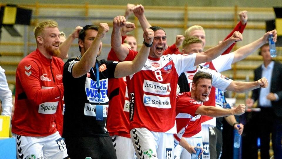 Aalborg Håndbold ligner et hold, som til marts kan byde op til europæisk slutspilshåndbold i Jutlander Bank Arena. Foto: Anita Høiby Gotehus