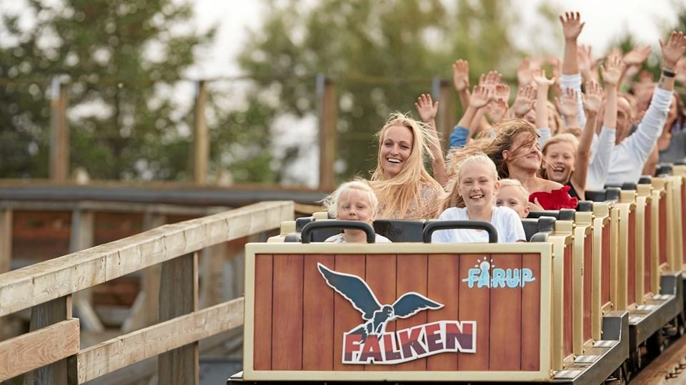 """Det kører for Fårup Sommerland. Forlystelsesparken er netop kåret som """"Nordens bedste sommerland"""" af brugerne på det svenske børnefamilie-site, Barnsemester.se Arkivfoto"""