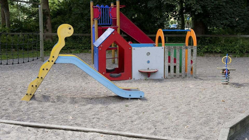 For nogle år siden var der også problemer med grupper af unge i Christiansgave og det var især i nærheden af legepladsen.Arkivfoto