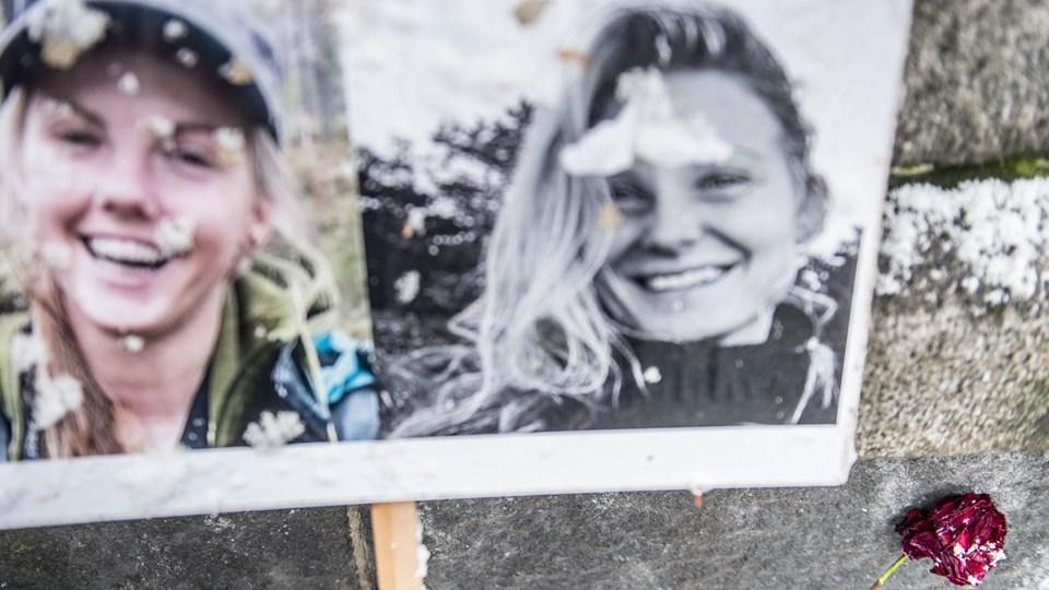 24-årige Louisa Vesterager Jespersen og 28-årige Maren Ueland blev slået ihjel, mens de var på vandreferie i Marokko i december. De er blevet mindet af folk fra både Danmark og Norge, men en video, der viser en af kvinderne blive dræbt, bliver ved med at florere på sociale medier trods gentagne advarsler og opfordringer til at stoppe fra politiet. (Arkivfoto).