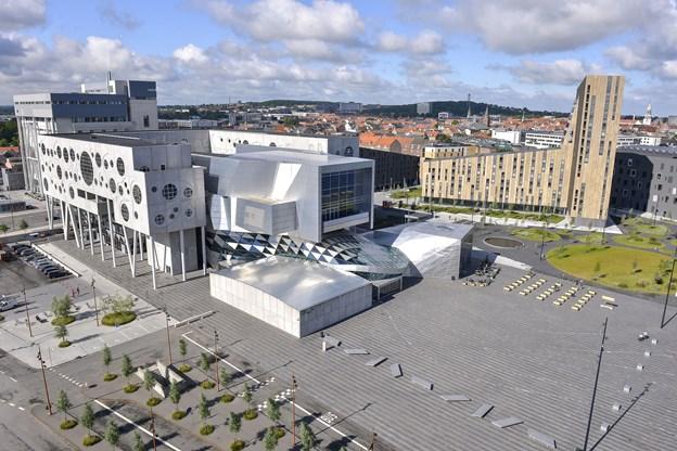 Aalborg Havnefront ved Musikkens Hus, præmieret for at fungere som ramme for mange funktioner. Foto: Claus Søndberg
