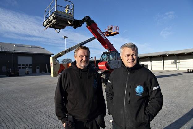 Jens og Peter Pedersens virksomhed vokser i takt med øget aktivitet i byggebranchen.Foto: Kurt Bering