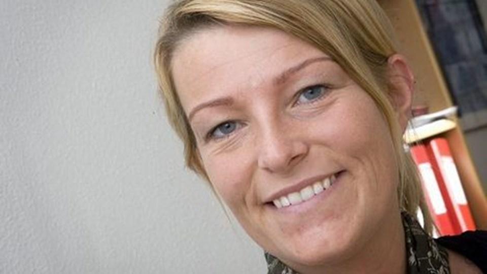 Lotte Bonderup er netop startet som erhvervskoordinator i Sæby og skal blandt andet hjælpe iværksættere med at søge midler og så skal hun lave projekter på tværs af brancher og bygrænser.foto Bent jakobsen.