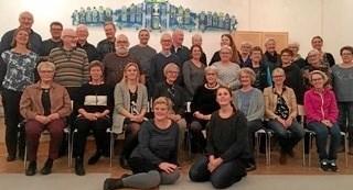 Støvringkoret - giver julekoncert i HUSET i Støvring 6. december. Privatfoto