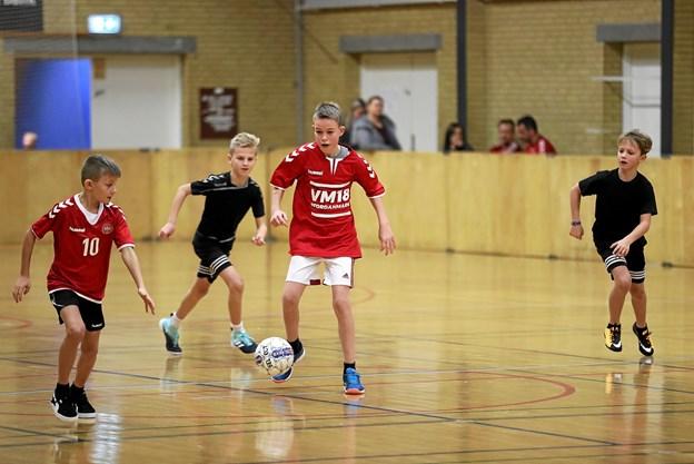 Vester Hassing Hallen danner 27. december endnu engang ramme om et julefodboldstævne. Foto: Allan Mortensen
