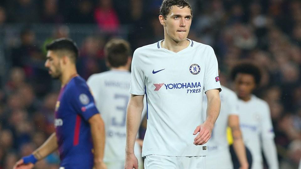 Andreas Christensen fik en uheldig rolle, da Chelsea tabte samlet til Barcelona. Foto: Reuters/Albert Gea