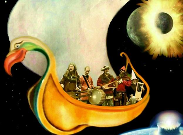 Vikingekvartetten Krauka gæster Morsø Folkebibliotek. PR-foto.