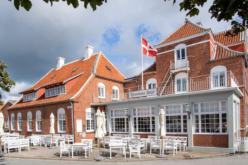 Brøndums Hotel i Skagen  Foto: Peter Broen