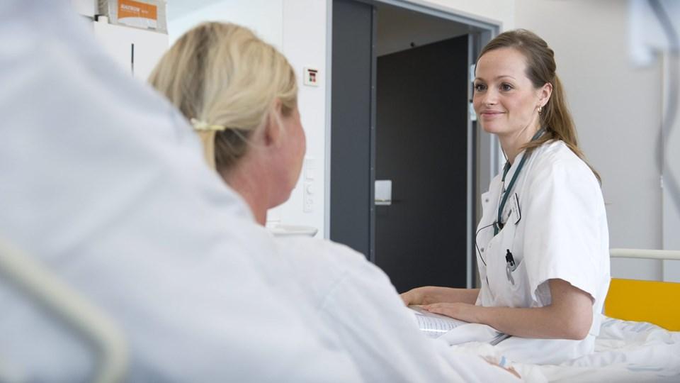 For ganske nylig var læger en mangelvare på den interne medicinske afdeling på sygehuset i Hjørring. Sådan er det ikke længere. Arkivfoto: Bente Poder