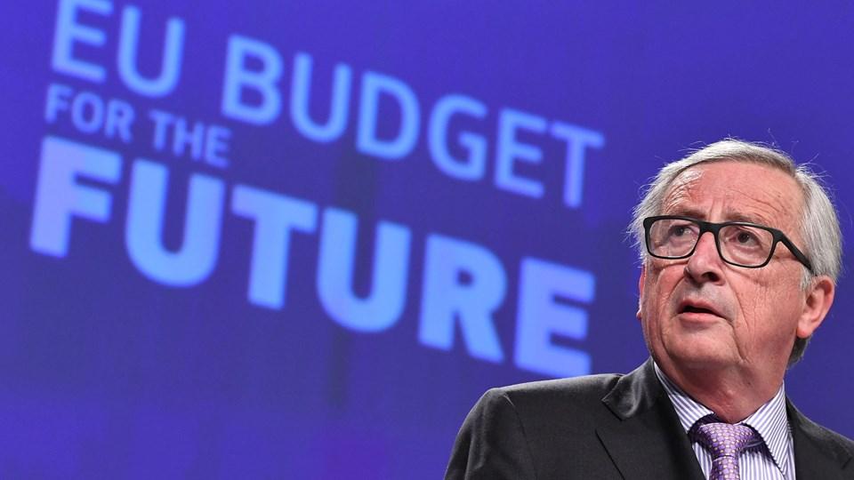 Europa-Kommissionens præsident, Jean-Claude Juncker, holder onsdag pressekonference om EU's langtidsbudget for perioden 2021-2027. Foto: Scanpix/Emmanuel Dunand/arkiv
