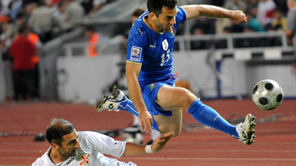 Guiseppe Rossi spillede 29 landskampe for Italien fra 2008 til 2014 og scorede syv mål. Foto: Vano Shlamov/Ritzau Scanpix