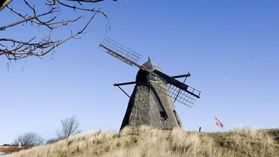 Skagen By- og Egnsmuseums - og Vesterbys - vartegn, den gamle mølle, er ikke helt sig selv. Den skal nu repareres. Foto: Carl Th. Poulsen