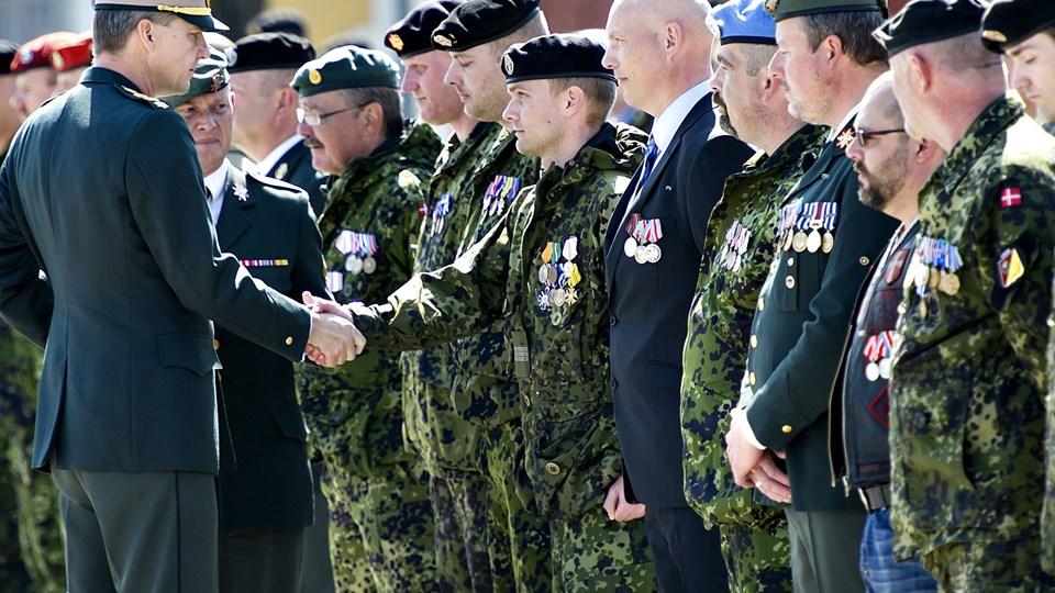 Medaljeoverrækkelse for psykisk sårede soldater, Peter Bartram Foto: Scanpix/Keld Navntoft