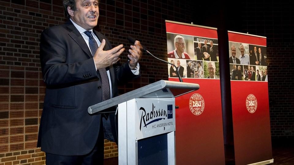 Michel Platini (billedet) hyldede Richard Møller Nielsen, der døde for to uger siden. Foto: Anders Kjærbye/Scanpix