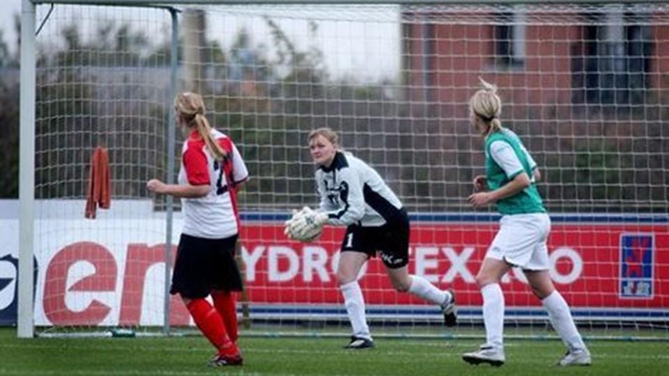 Lungebetændelse kan forhindre Heidi Johansen i at deltage i den vigtige OL-kvalifikationskamp mod Sverige på torsdag.foto: bente poder