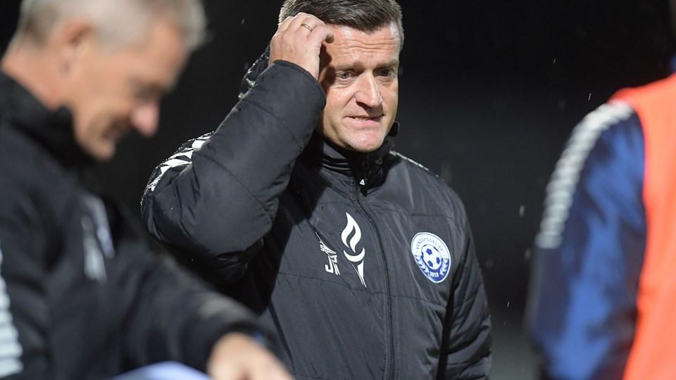 Vendsyssel-træner Johnny Mølby er irriteret over de mange skader, der har plaget hans spillere hele sæsonen. Arkivfoto: Bente Poder