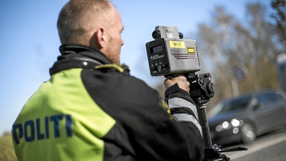Politiet kontrollerede hastigheder på bl.a. Bygholmvejlevej ved Fjerritslev. Arkivfoto
