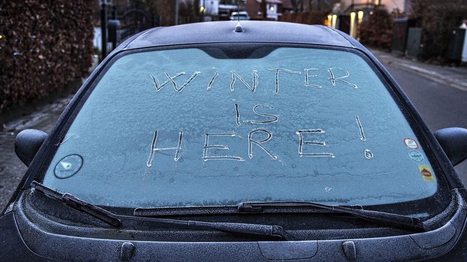 Hele ugen vil nattetemperaturerne ligge under frysepunktet, oplyser DMI tidligt mandag morgen. (Arkivfoto)