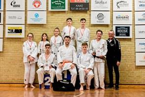 Flot medaljehøst til judokæmpere fra Aabybro