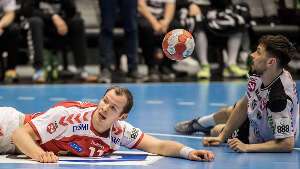 Simon Hald og Aalborg Håndbold spiller i dag i Skjern.Arkivfoto: Martin Damgård