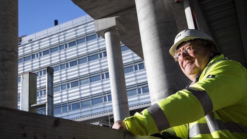 Byggeriet i udkanten af Aalborg skyder hastigt i vejret. Nu er alle de store licitationer på plads. Foto: Henrik Bo