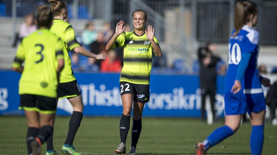 Frederikke Thøgersen scorede en enkelt gang mod Sundby. Arkivfoto: Lars Pauli