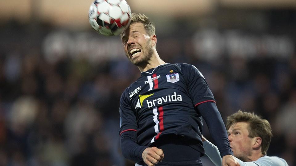 Patrick Mortensen og AGF er næsten sikret overlevelse i Superligaen og jagter derfor muligheden for at komme med i kvalifikationen til Europa League.