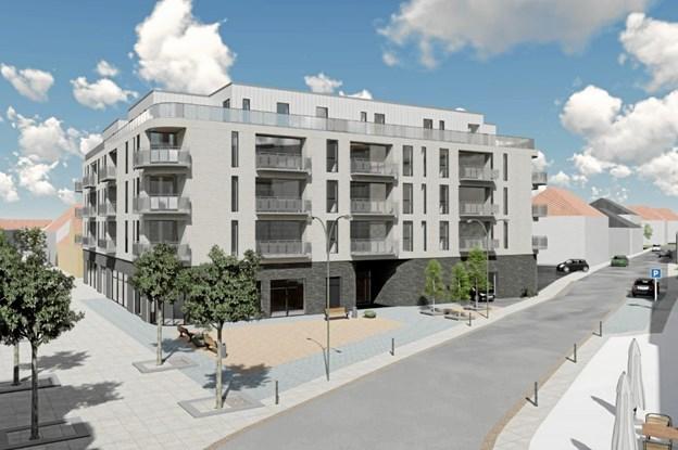 Luksus i Brønderslev: Penthouselejligheder skyder op i midtbyen