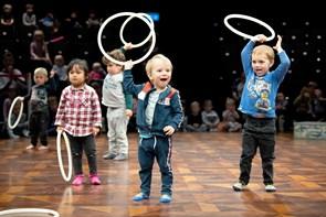 Børn indtog manegen på Vendsyssel Teater