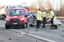 Falckansat dræbt i ulykke på motorvej