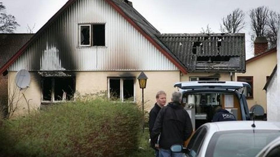 Ejeren af huset på Vesterbygade i Blenstrup blev dømt for selv at have stået for at sætte ild til sit hus, men da straffen skulle udmåles blev den væsentlig mere omfattende end normalt for den type sager.ARKIVFOTO: Michael Koch