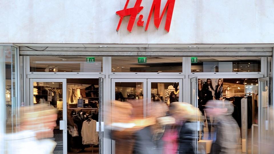 H&M har flere udfordringer, især med salget i de fysiske butikker. Foto: Scanpix/Philippe Huguen