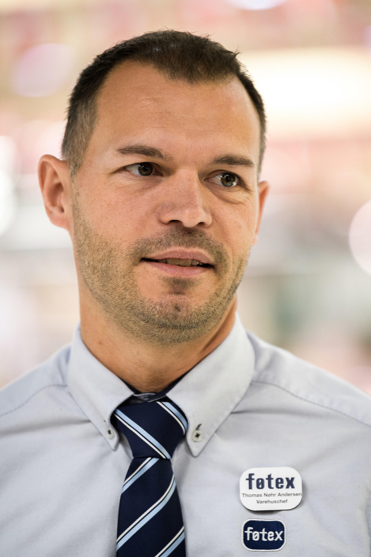 Varehuschef Thomas Nøhr  Andersen glæder sig til at få sat et punktum for ombygningen.