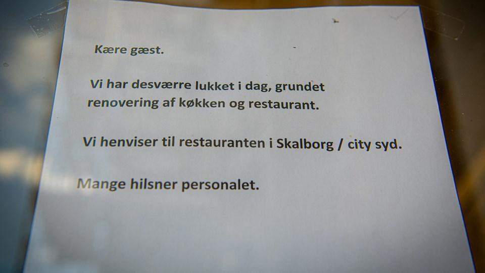 Restaurant Bones har været lukket i et par måneder i Danmarksgade i Aalborg, officielt på grund af renovering, men det er ikke hele historien. Foto: Martin Damgård
