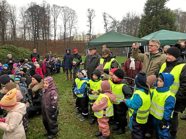120 børnehavebørn havde en sand fest i Botanisk Have