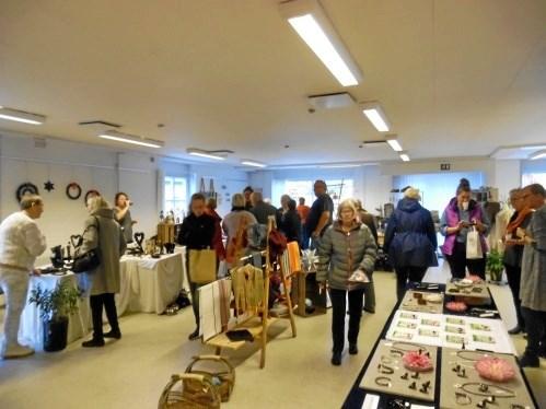 Op mod 300 besøgende var i weekenden til messe i Terndrup Medborgerhus. Privatfoto